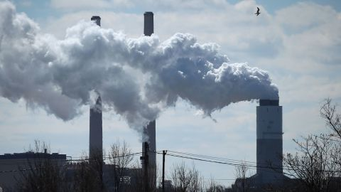 BALTIMORE, MD - MARCH 09: Emissions spew from a large stack at the coal fired Brandon Shores Power Plant, on March 9, 2018 in Baltimore, Maryland. Last year the Environmental Protection Agency (EPA), announced that it would repeal President Obama's policy on curbing greenhouse gas emissions from coal fired power plants.  (Photo by Mark Wilson/Getty Images)