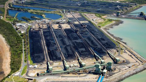 Coal sits at the Hay Point and Dalrymple Bay Coal Terminals south of the Queensland town of Mackay in Australia.