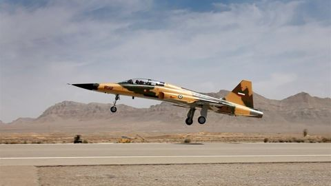 The Kowsar, Iran's new fighter jet, was unveiled Tuesday.