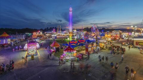 <strong>Fairlea, West Virginia: </strong>Pictured on its opening day, August 9, the 2018 State Fair of West Virginia was held in the town of Fairlea.