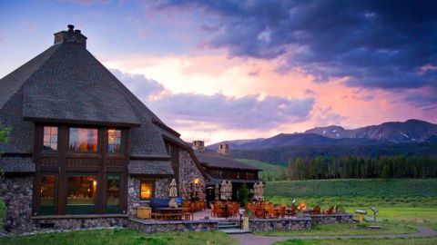 The rustic Devil's Thumb Ranch, site of many Reboot boot camps, offers stunning views of the Colorado landscape.