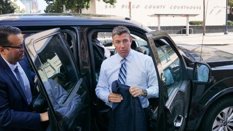 SAN DIEGO, CA - AUGUST 23: Rep. Duncan Hunter (R-CA) walks into the Federal Courthouse for an arraignment hearing on August 23, 2018 in San Diego, California. Hunter and his wife Margaret are accused of using more than $250,000 in campaign funds for personal use. (Photo by Sandy Huffaker/Getty Images)