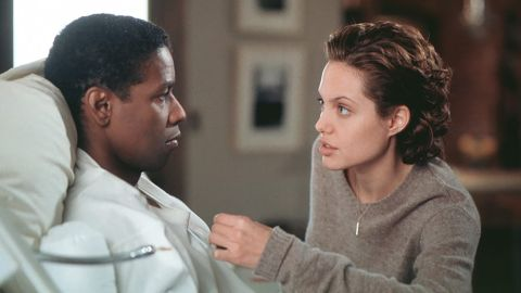 """<strong>""""The Bone Collector""""</strong>: Denzel Washington and Angelina Jolie star in this psychological thriller. Based on the crime novel of the same name written by Jeffery Deaver, the film centers on a quadriplegic detective who teams up with a patrol cop to try and stop a serial killers.  <strong>(Hulu)</strong>"""