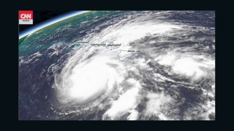 Hurricane Lane is shown in a satellite image from just after 11 a.m. HT Thursday.