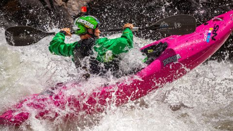"""The swift current pulls the racer into a frenzied route of waves, falls and eddies. """"Irregular"""" and """"explosive"""" are how one of its creators describes these particular rapids."""