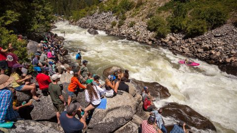 One of the reasons the location of the race is ideal: Rarely are world-class rapids so easily accessible to spectators.