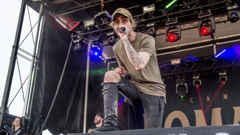 Kyle Pavone of We Came As Romans performs at the Rock On The Range Music Festival in Columbus, Ohio, in May.