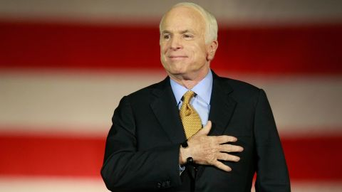 Republican presidential nominee U.S. Sen. John McCain concedes victory on stage during the election night rally at the Arizona Biltmore Resort & Spa on November 4, 2008 in Phoenix, Arizona.