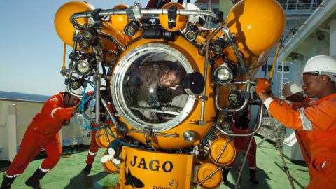 They also make use of a two-person submarine to examine the geology of the seafloor.