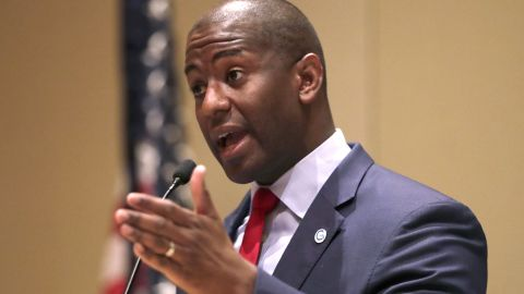 Democratic gubernatorial candidate Andrew Gillum speaks during a candidates forum hosted by the Florida League of Cities, Wednesday, Aug. 15, 2018, in Hollywood, Fla. (AP Photo/Lynne Sladky)