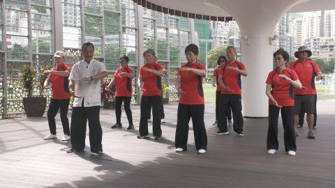 Qigong Master Joe Lok during his class.