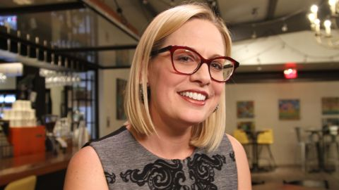 Rep. Kyrsten Sinema,  who is battling to become the first woman to represent Arizona in the US Senate.