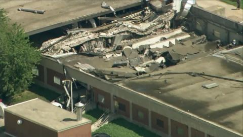Part of the plant collapsed Thursday.