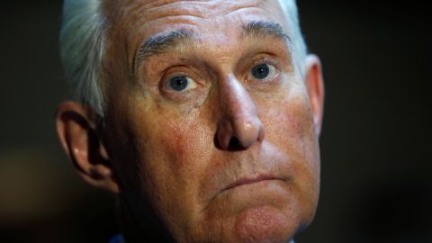 U.S. political consultant Roger Stone, a longtime ally of President Donald Trump, speaks to reporters after appearing before a closed House Intelligence Committee investigating Russian interference in the 2016 U.S. presidential election at the U.S. Capitol in Washington, U.S., September 26, 2017.  REUTERS/Kevin Lamarque (Newscom TagID: rtrlnine160100.jpg) [Photo via Newscom]