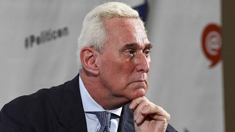 PASADENA, CA - JULY 30:  Roger Stone at the 'Roger Stone Holds Court' panel during Politicon at Pasadena Convention Center on July 30, 2017 in Pasadena, California.  (Photo by Michael Schwartz/Getty Images)