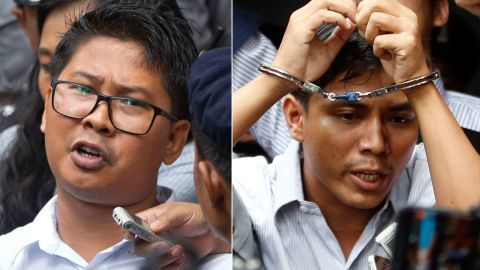 Reuters journalists Wa Lone and Kyaw Soe Oo sentenced in Myanmar to seven years imprisonment