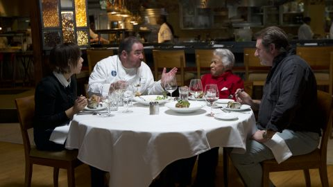 Family Meal: New Orleans roundtable with chefs Nina Compton, Emeril Lagasse, Leah Chase, and Donald Link. Photo taken at Emeril's New Orleans restaurant
