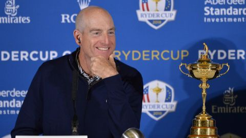 Team USA captain <strong>Jim Furyk</strong> (pictured) picked Woods as one of his three wildcards on September 4. Here's the rest of his 12-man line-up for the match against Europe at Le Golf National outside Paris, France starting September 28.