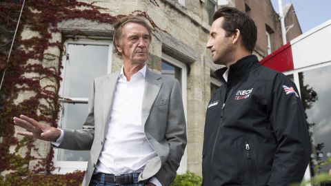 Britain's richest person Jim Ratcliffe (left) is pumping $141 million into Ben Ainslie's quest to win the 36th America's Cup in New Zealand in 2021.