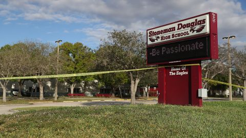 PARKLAND, FL - FEBRUARY 18:  Marjory Stoneman Douglas High School is seen on February 18, 2018 in Parkland, Florida. Police arrested 19 year old former student Nikolas Cruz for the mass shooting that killed 17 people on February 14.  (Photo by Joe Raedle/Getty Images)