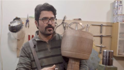 Keyvan Taheri, a highly experienced tonbak craftsman, runs a workshop in the Iranian capital, Tehran. Each drum takes three years to make and is produced in close collaboration with the player who has commissioned it. As a drummer himself, Taheri says he understands the deep relationship between a musician and their instrument.