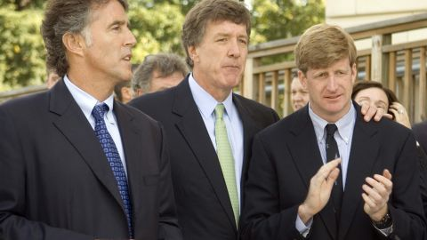 From left, actor Christopher Kennedy Lawford, Rep. Jim Ramstad, R-Minn., and Rep. Patrick Kennedy, D-R.I., attend the Paul Wellstone Mental Health Equitable Treatment Act press conference on Capitol Hill on Thursday, Sept. 21, 2006.