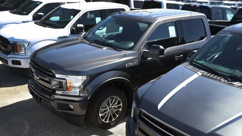Ford F-150 trucks in 2017. The recall affects 2015-2018 F-150 Regular Cab and SuperCrew Cab vehicles.