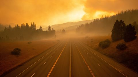 Portions of Interstate 5 in the Shasta Trinity National Forest were closed Thursday due to the wildfire.
