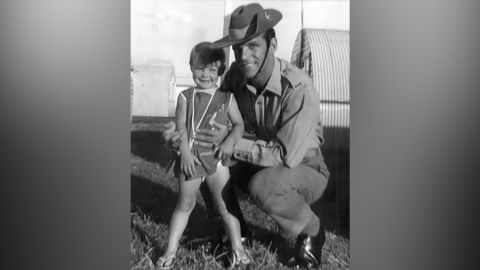 Cheryl Grimmer seen with her father before she disappeared in 1970. Her body hasn't been found.