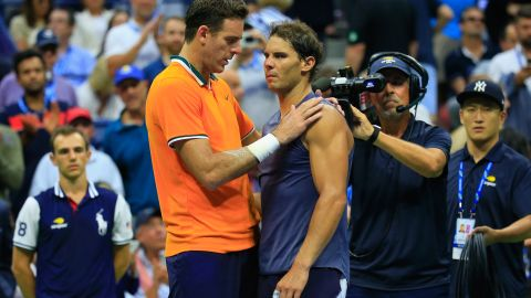 Rafael Nadal withdrew in the US Open semifinal against Juan Martin Del Potro in September.