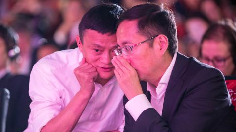 Jack Ma and Daniel Zhang in 2015.