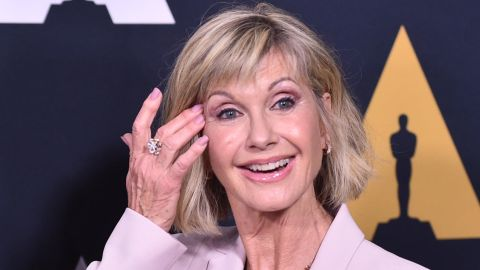 """BEVERLY HILLS, CA - AUGUST 15:  Olivia Newton-John attends the Academy Presents """"Grease"""" (1978) 40th Anniversary at the Samuel Goldwyn Theater on August 15, 2018 in Beverly Hills, California.  (Photo by Alberto E. Rodriguez/Getty Images)"""