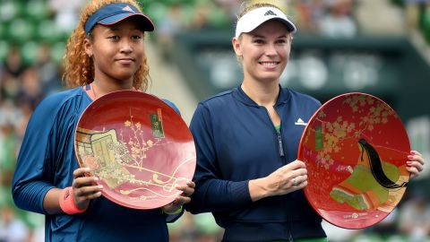 - Osaka finished <strong>2016</strong> by reaching her first WTA final. After being handed a wildcard to compete at the Toray Pan Pacific Open, the youngster (left) finished runner-up behind  Caroline Wozniacki (right). The successful year yielded rich rewards for Osaka. She broke into the world Top 50, signed a worldwide marketing agreement and was voted newcomer of the year at the WTA Awards.