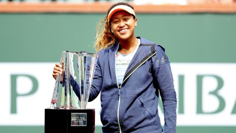 - After achieving her best grand slam finish at the 2018 Australian Open (fourth round), Osaka won her first WTA title at the <strong>2018 BNP Paribas Open</strong>, Indian Wells. She cemented herself as a future star with wins against former world No.1's Maria Sharapova and Simona Halep on her way to victory.
