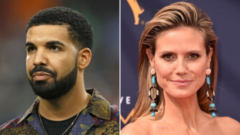 Drake apparently struck out with Heidi Klum.