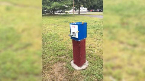 Crack pipe dispenser on Middle Country Road in Coram, NY