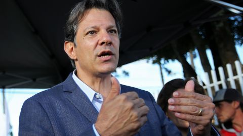 Fernando Haddad, of the Workers' Party, is the other frontrunner in the presidential race
