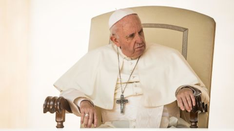 """VATICAN CITY, VATICAN - AUGUST 29:  Pope Francis holds his General Weekly Audience in St. Peter's Square on August 29, 2018 in Vatican City, Vatican. During his speech the Pontiff said: """"Sadly, the joy of my Visit (to Ireland) was clouded by the recognition of the suffering caused by the abuse of minors and young people by some members of the Church. I begged forgiveness for these crimes and encouraged the efforts made to ensure that they are not repeated"""".   (Photo by Giulio Origlia/Getty Images)"""