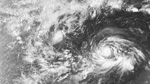 A satellite view of Super Typhoon Mangkhut as it approaches the Philippines on September 13, 2018.