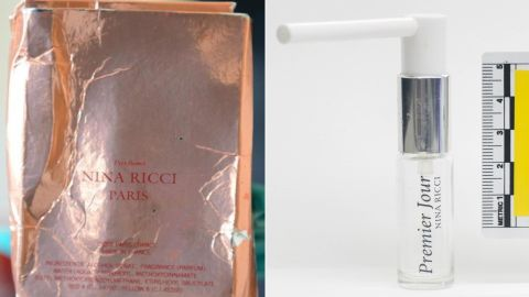 Counter-terrorism police released images of a counterfeit perfume bottle and box connected to the Salisbury attack.