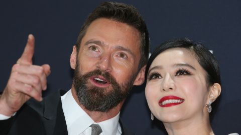 """MELBOURNE, AUSTRALIA - MAY 16:  Fan Bingbing and Hugh Jackman arrive at the Australian premiere of 'X-Men: Days of Future Past"""" on May 16, 2014 in Melbourne, Australia.  (Photo by Scott Barbour/Getty Images)"""