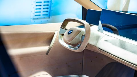 The interior of the BMW Vision iNext is designed to be warm and homey.