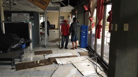 Tuguerarao airport was damaged as Super Typhoon Mangkhut swept past the Philippines.