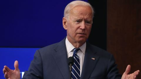 WASHINGTON, DC - MAY 08:  Former U.S. Vice President Joe Biden delivers a keynote address regarding the future of the middle class, at the Brookings Institution, on May 8, 2018 in Washington, DC.  (Photo by Mark Wilson/Getty Images)