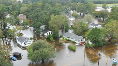Flooded neighborhoods, I95, hotel