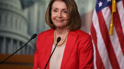 House Minority Leader Nancy Pelosi (D-CA) speaks to the media during her weekly news conference at the U.S. Capitol on September 6, 2018 in Washington, DC.