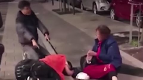 Chinese tourists crying for help in a video taken after they were asked to leave a Swedish hotel in early September.