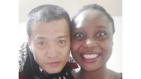 Sandra Made and Zou Qianshun met in Cameroon and married in 2017.