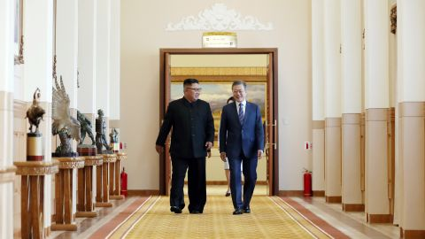 """North Korea said it would close a key missile test facility in the presence of """"international experts"""" and potentially destroy its primary nuclear complex if the United States agrees to corresponding measures, South Korean President Moon Jae-in announced in a joint press conference with North Korean leader Kim Jong Un Wednesday."""