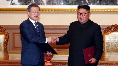 """Moon and Kim teased a potential historic fourth meeting between the two leaders, this time in the South Korean capital. The signed agreement stated that Kim would travel to Seoul """"as soon as possible,"""" something no North Korean leader has ever done."""